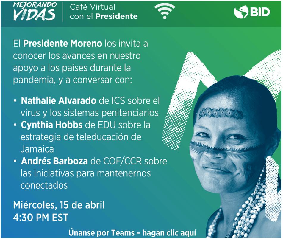 VIDEO del Cafe Virtual con el Presidente Moreno del 15 de abril