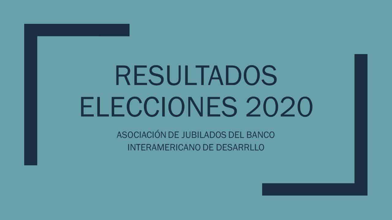 Resultados Elecciones 2020