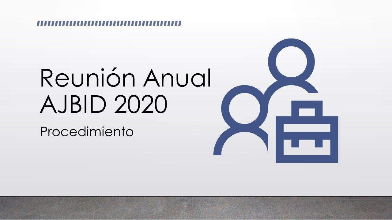 Reunión Anual 2020 - Procedimiento