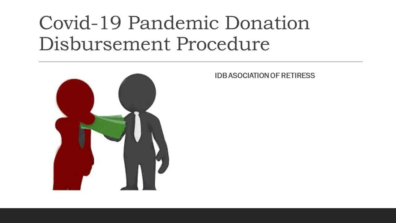 Procedure for Disbursement of Donations for Pandemic Covid-19