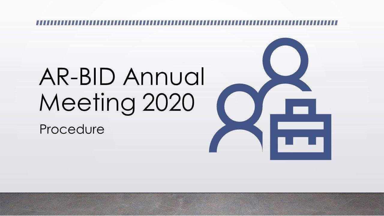 Annual Meeting 2020 - Procedure