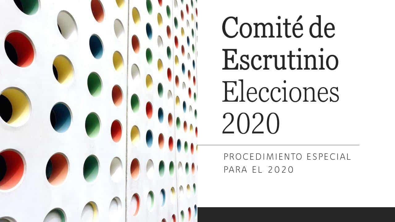 Comité de Escrutinio – Procedimiento Especial para el año 2020