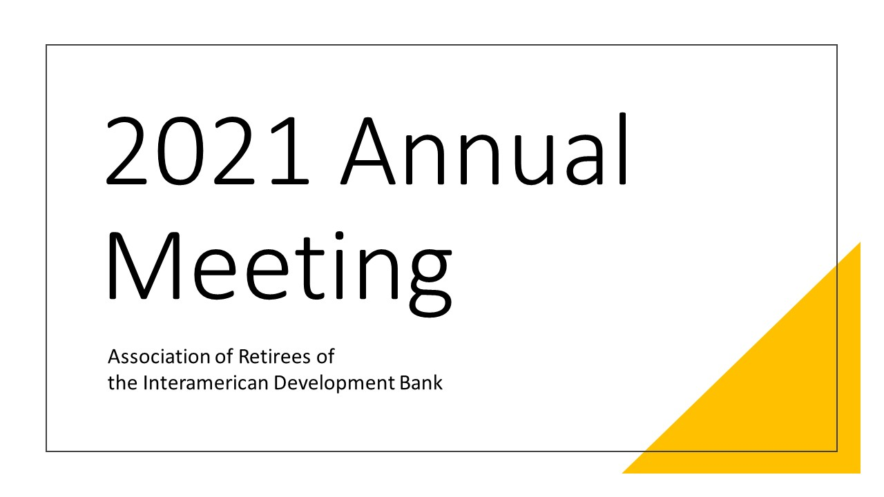 Launch of the 2021 Annual Meeting webpage
