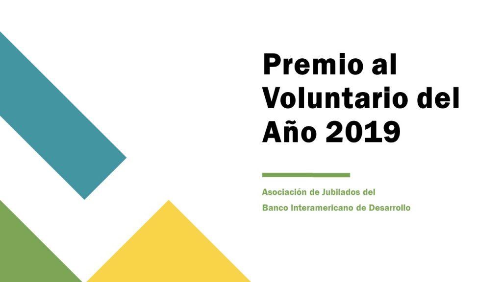 Premio al Voluntario del Año 2019