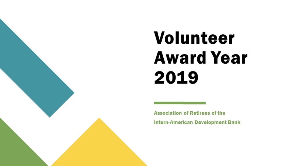 Volunteer Award 2019